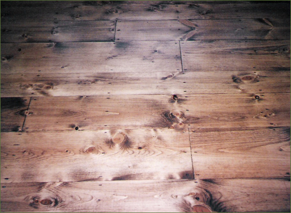 Wood floor repair and stain